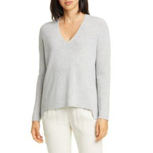 Eileen Fisher Shimmer Wool Blend V Neck Sweater